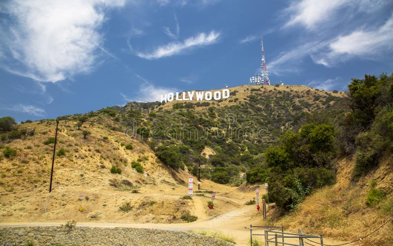 Segno di Hollywood, colline, Hollywood, Los Angeles, California, Stati Uniti d'America, Nord America fotografia stock libera da diritti