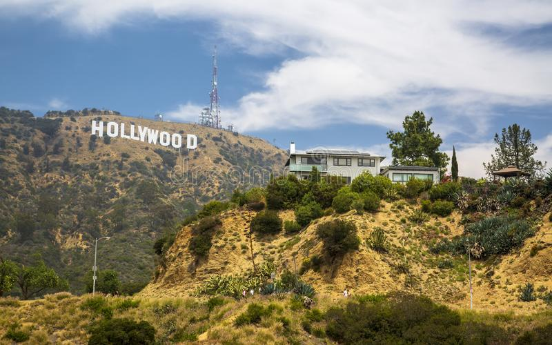 Segno di Hollywood, colline, Hollywood, Los Angeles, California, Stati Uniti d'America, Nord America fotografia stock