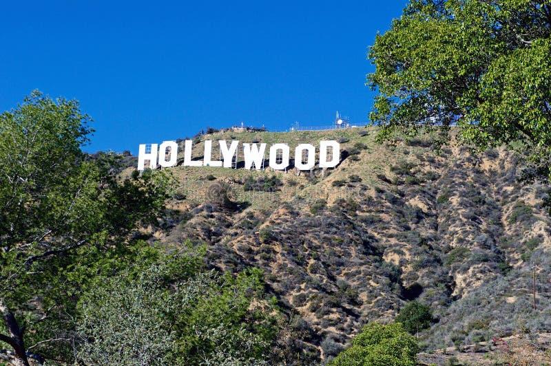Segno di Hollywood; Punto di riferimento di fama mondiale fotografia stock libera da diritti