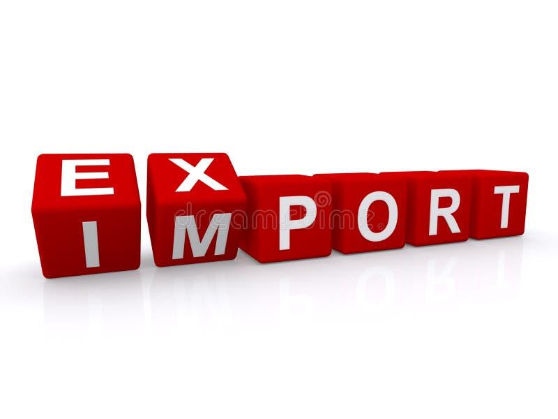 Segno di importazioni-esportazioni illustrazione vettoriale