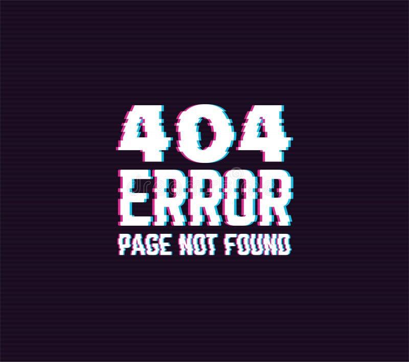 segno di impulso errato di 404 errori illustrazione di stock