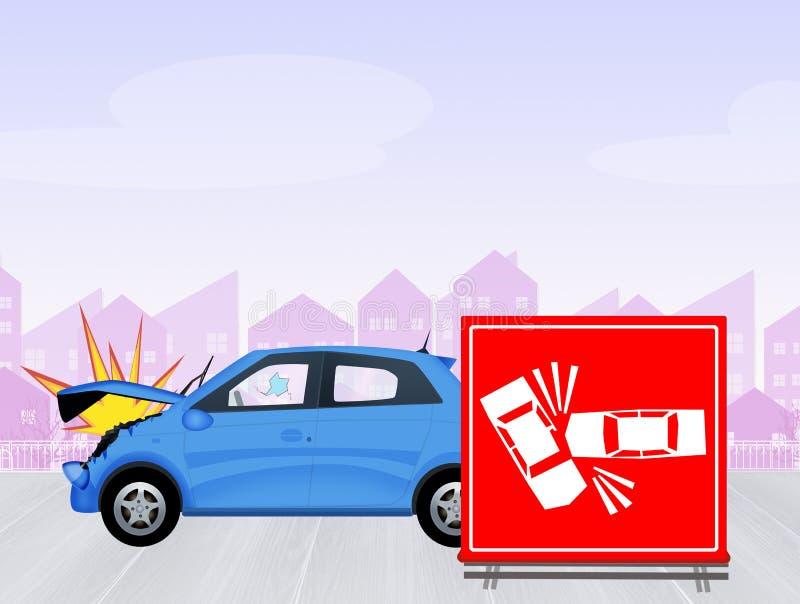 Segno di incidente stradale illustrazione di stock