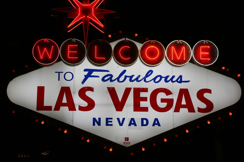 Segno di Las Vegas immagine stock libera da diritti