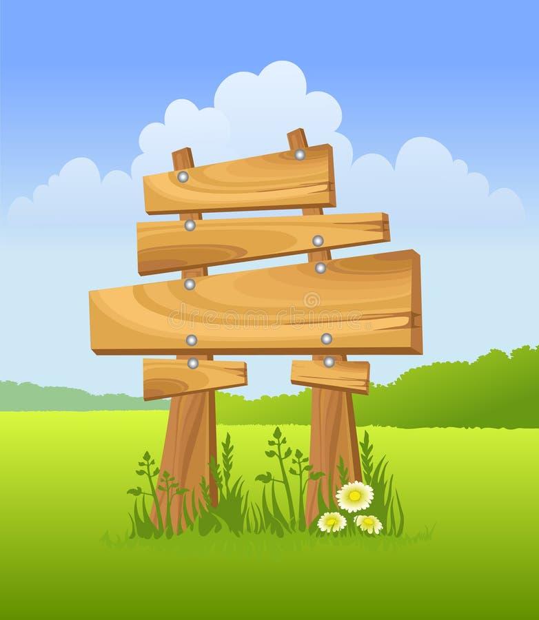 Segno di legno illustrazione di stock
