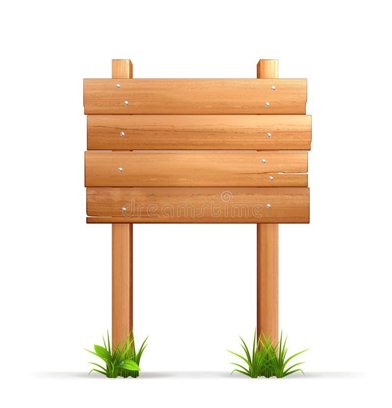 Segno di legno royalty illustrazione gratis