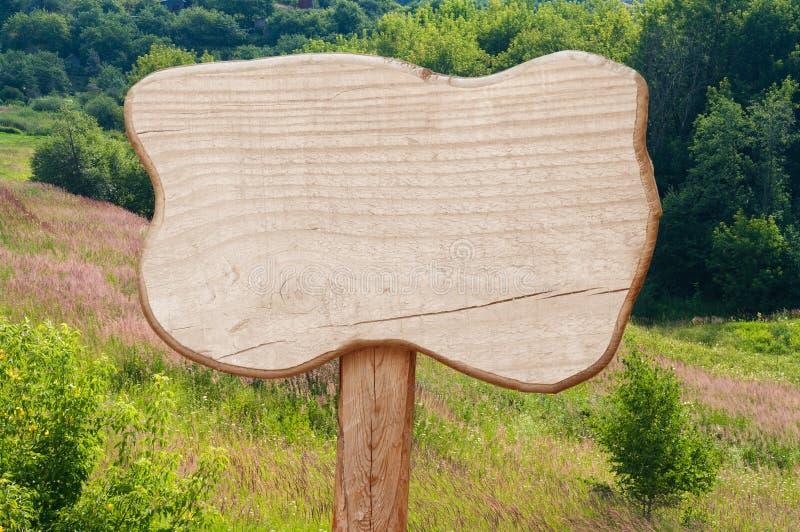 Segno di legno fotografie stock