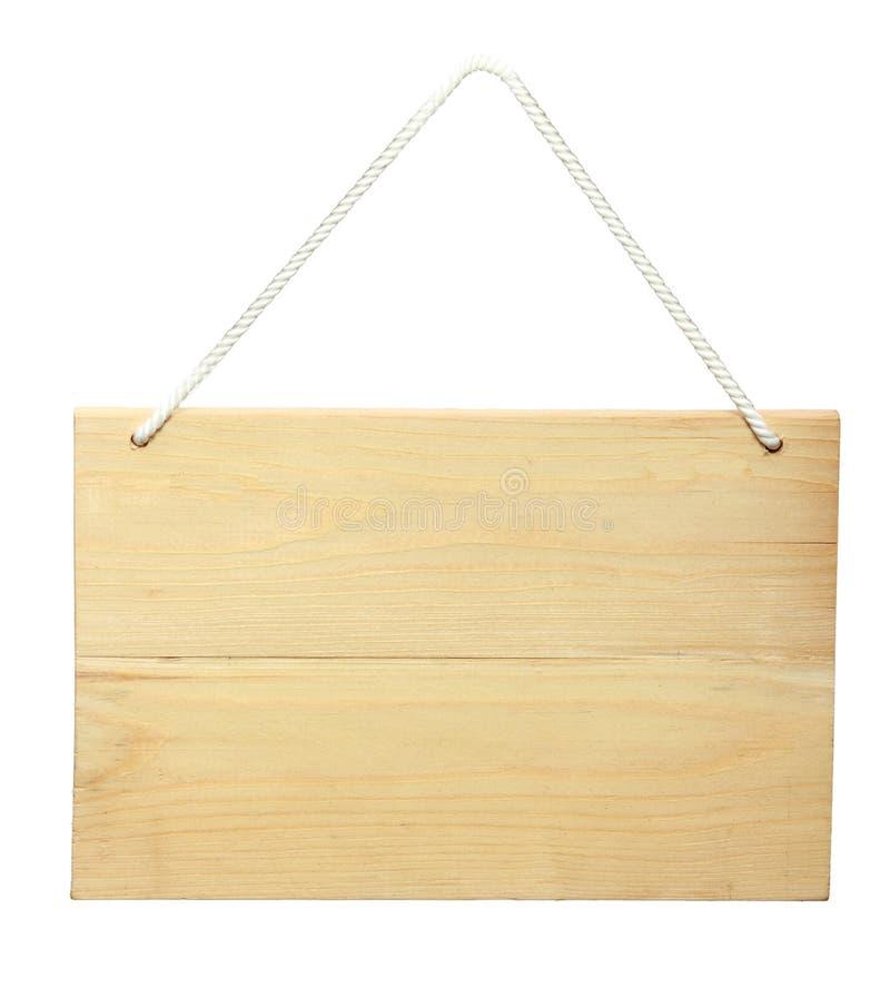 Segno di legno da una corda immagine stock