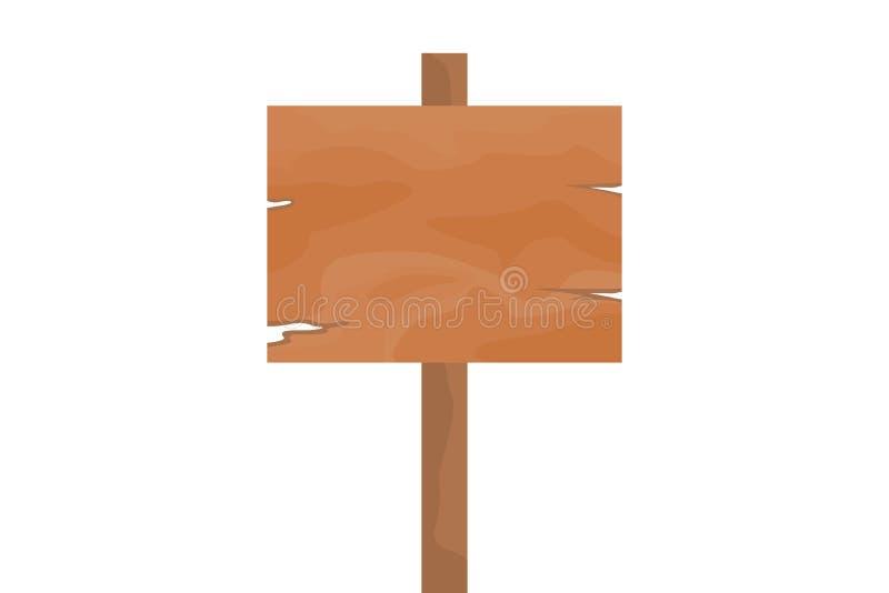 Segno di legno del bordo immagini stock
