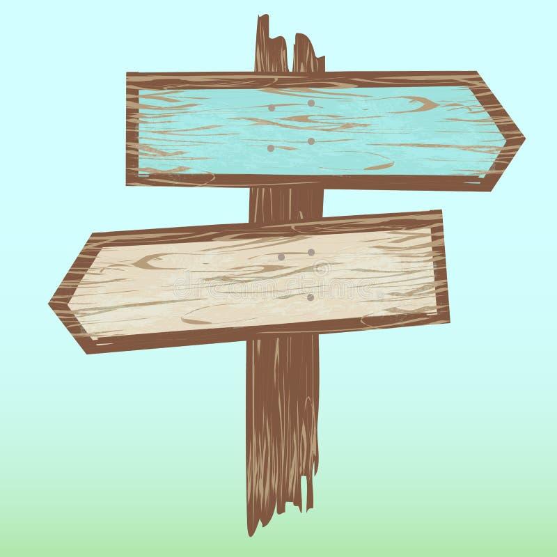 Segno di legno delle frecce royalty illustrazione gratis