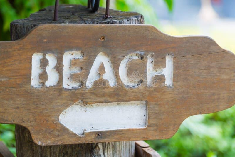 Segno di legno di Access della spiaggia fotografia stock