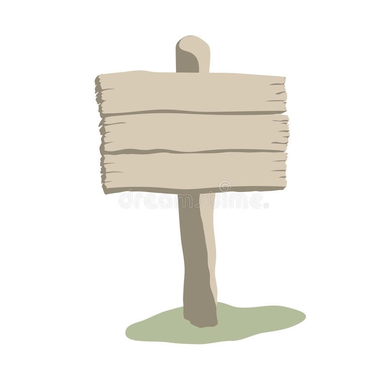 Segno di legno stagionato di forma quadrata royalty illustrazione gratis