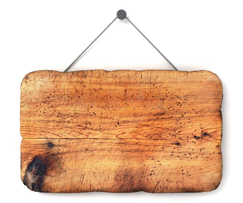 Segno di legno vuoto illustrazione di stock