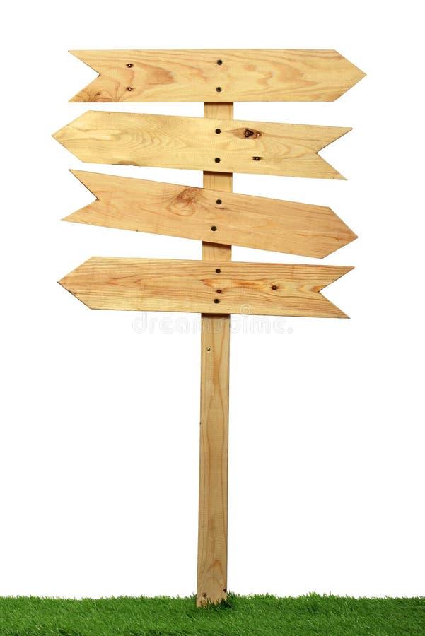 Segno di legno vuoto immagini stock libere da diritti