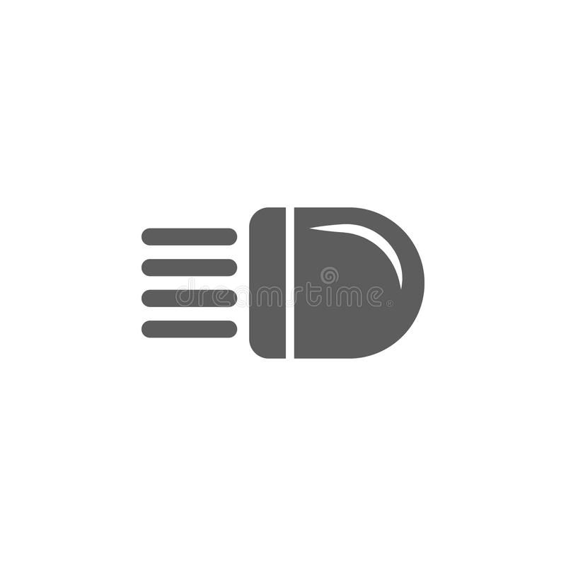Segno di luce nell'icona dell'automobile Elementi dell'icona di riparazione dell'automobile Progettazione grafica di qualità prem illustrazione vettoriale