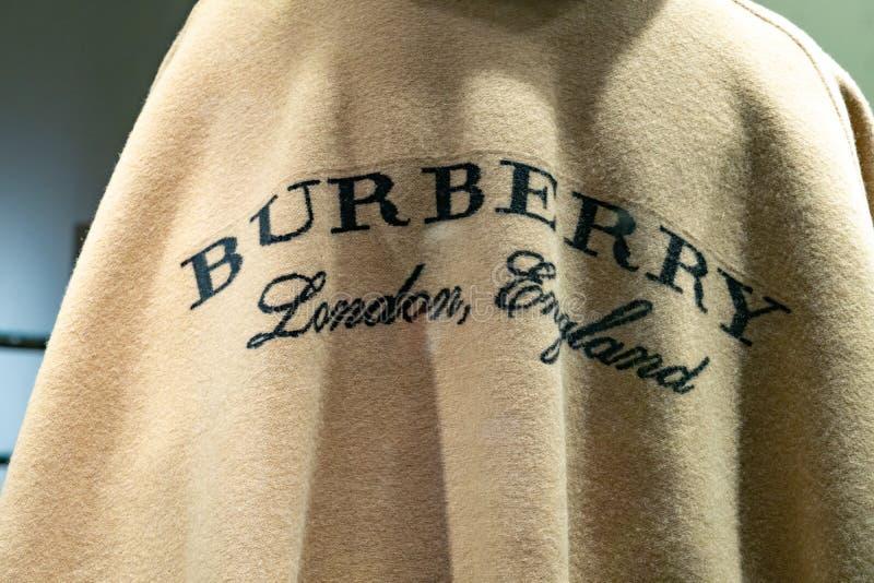 Segno di marca di Burberry fotografia stock