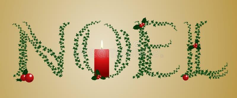 Segno di Noel dell'edera illustrazione vettoriale