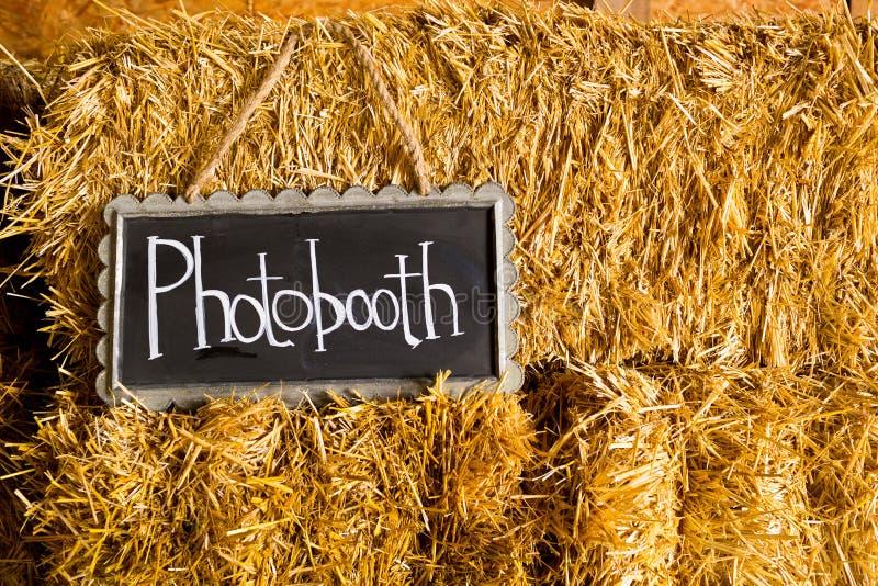 Segno di nozze di Photobooth immagine stock