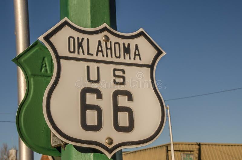 Segno di Oklahoma Stati Uniti 66 immagine stock
