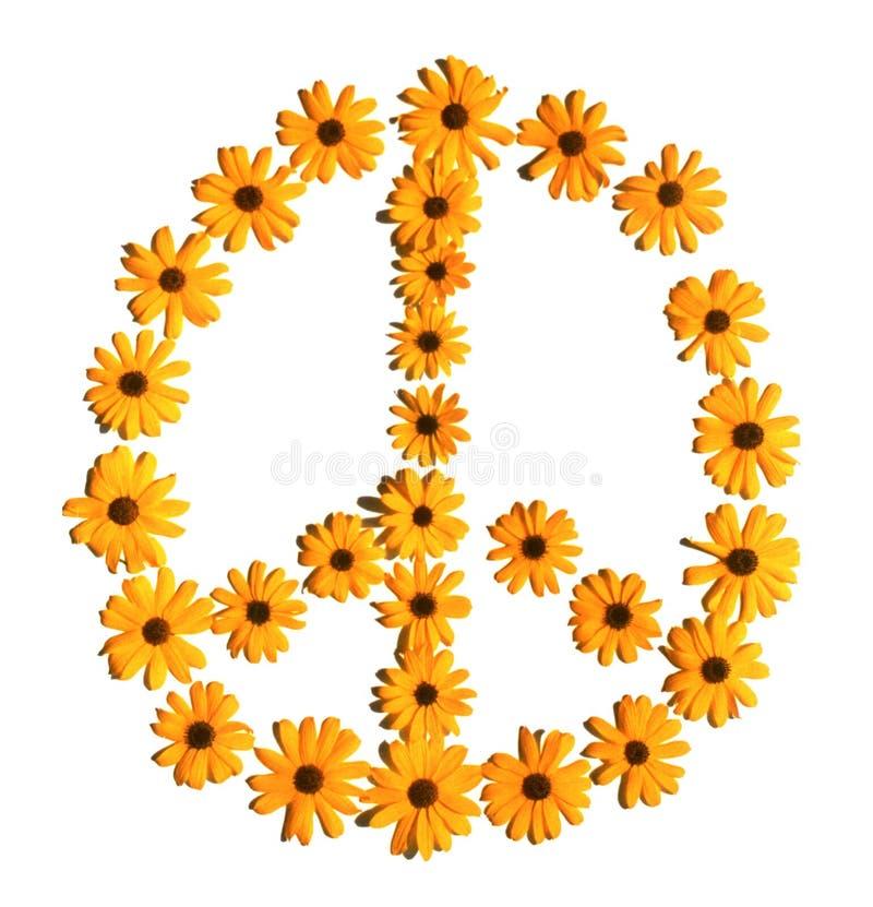 Segno di pace del fiore fotografie stock