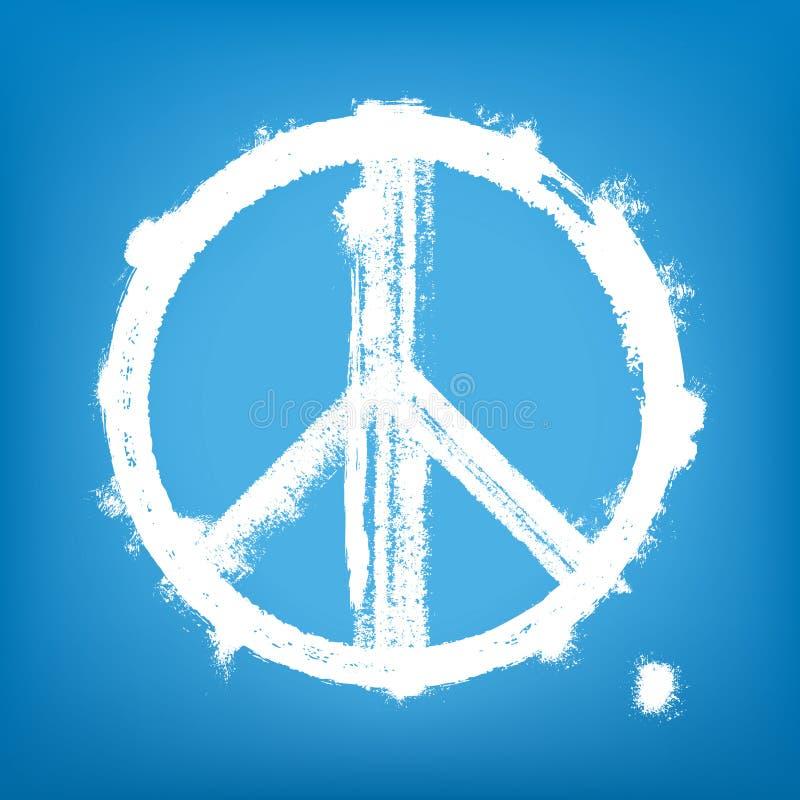 Segno di pace di Grunge illustrazione di stock