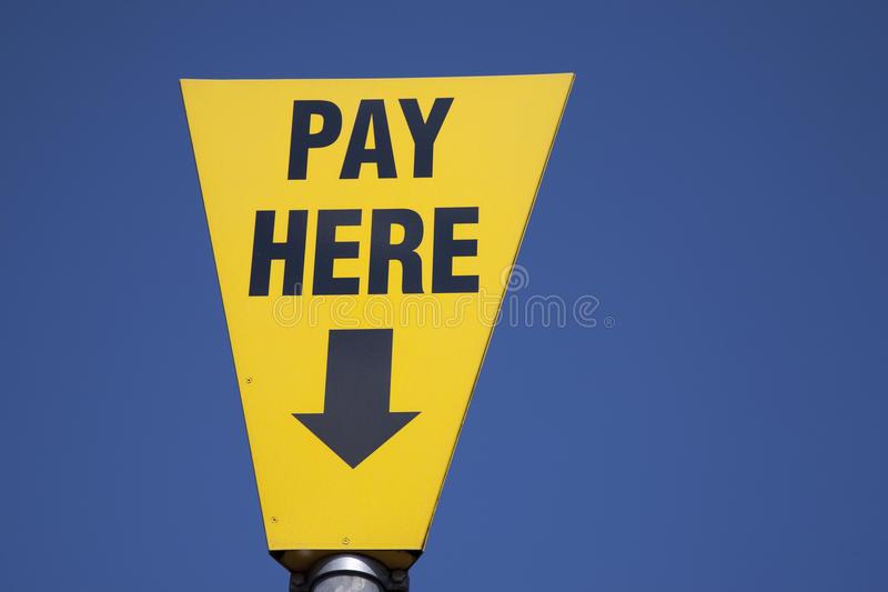Segno di pagamento immagine stock