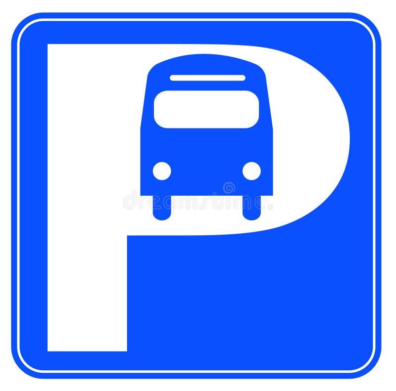Segno di parcheggio del bus royalty illustrazione gratis