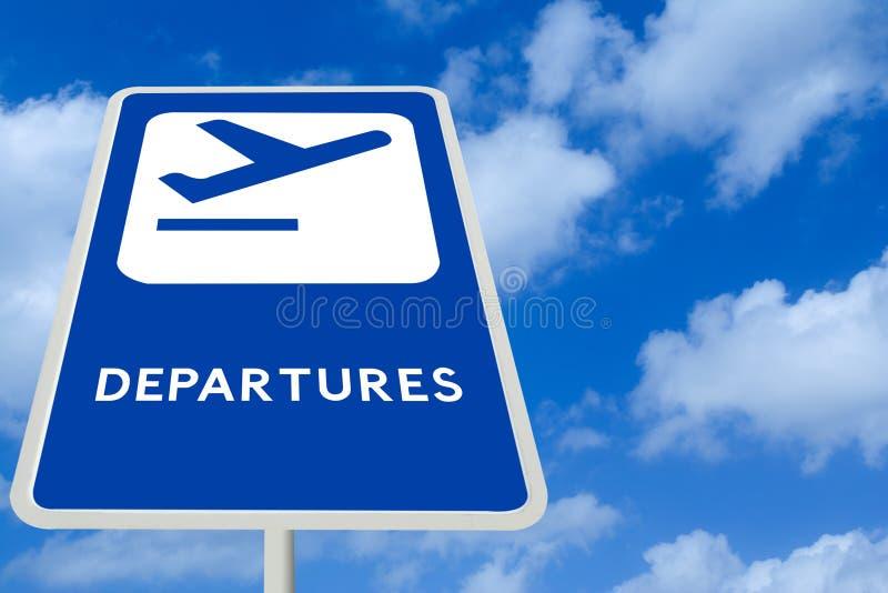 Segno di partenza dell'aeroporto immagini stock libere da diritti