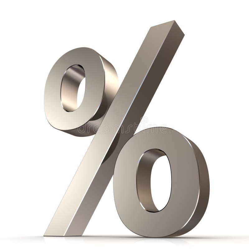 segno di percentuali 3d illustrazione vettoriale