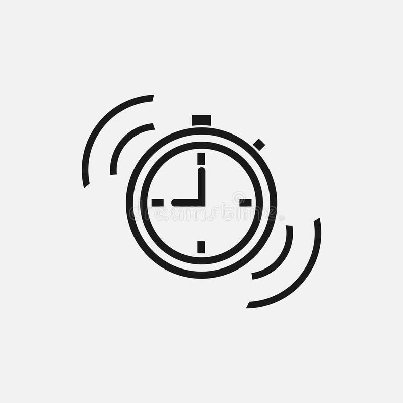 Segno di periodo di digiuno Icona di tempo su fondo bianco Illustrazione di vettore royalty illustrazione gratis