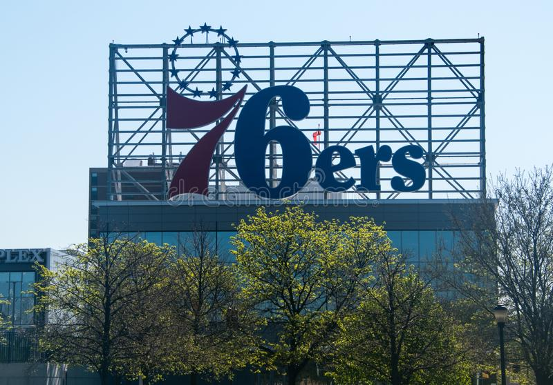 Segno di Philadelphia 76ers immagini stock libere da diritti