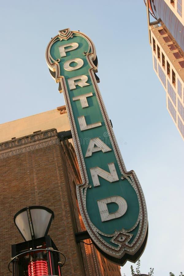 Segno di Portland Oregon fotografia stock