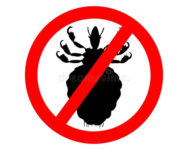 Segno di proibizione per i pidocchi royalty illustrazione gratis