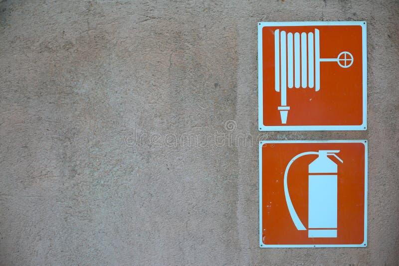 Segno di protezione antincendio fotografia stock libera da diritti
