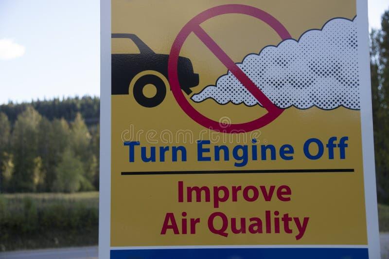 Segno di qualità dell'aria fotografie stock libere da diritti