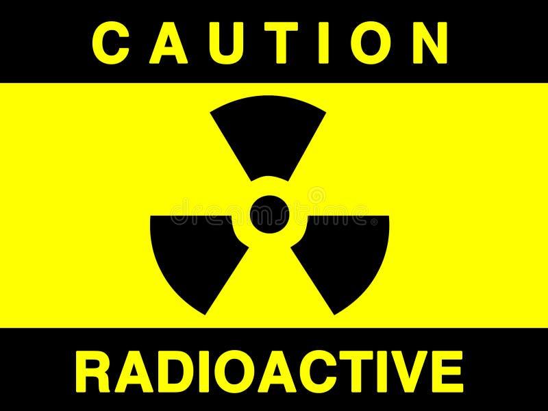 Segno di radiazione illustrazione di stock