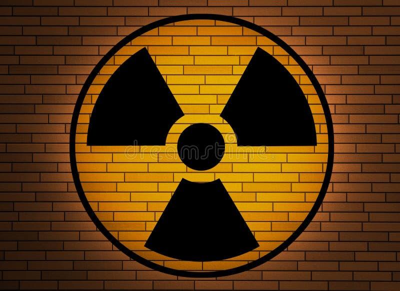 Segno di radiazione. royalty illustrazione gratis