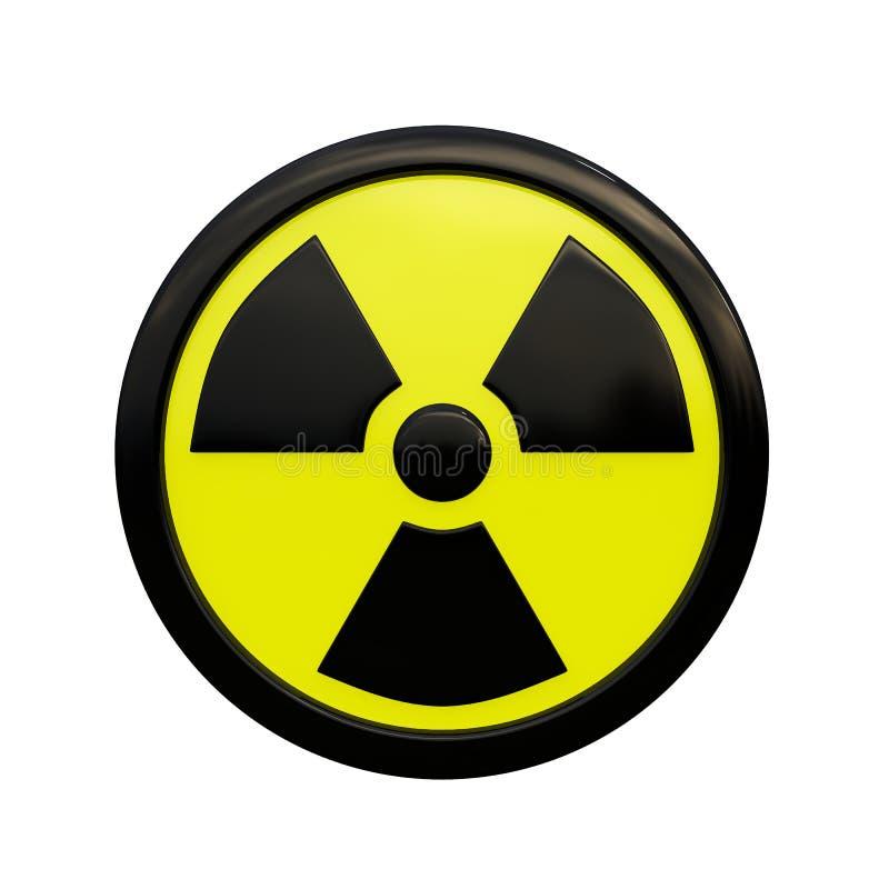 segno di radiazione 3D fotografia stock libera da diritti