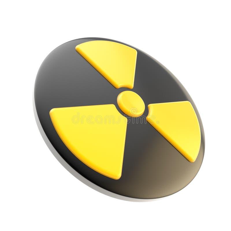 Segno di radiazione di energia nucleare isolato royalty illustrazione gratis