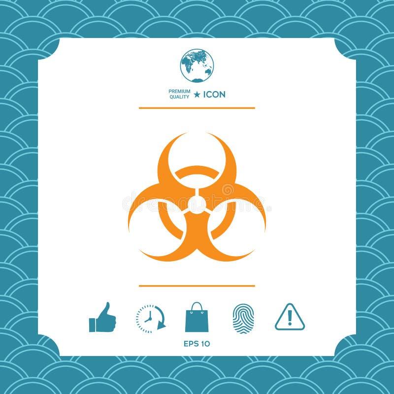 Segno di rischio biologico illustrazione di stock