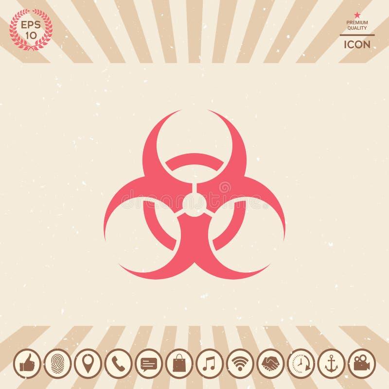 Segno di rischio biologico royalty illustrazione gratis