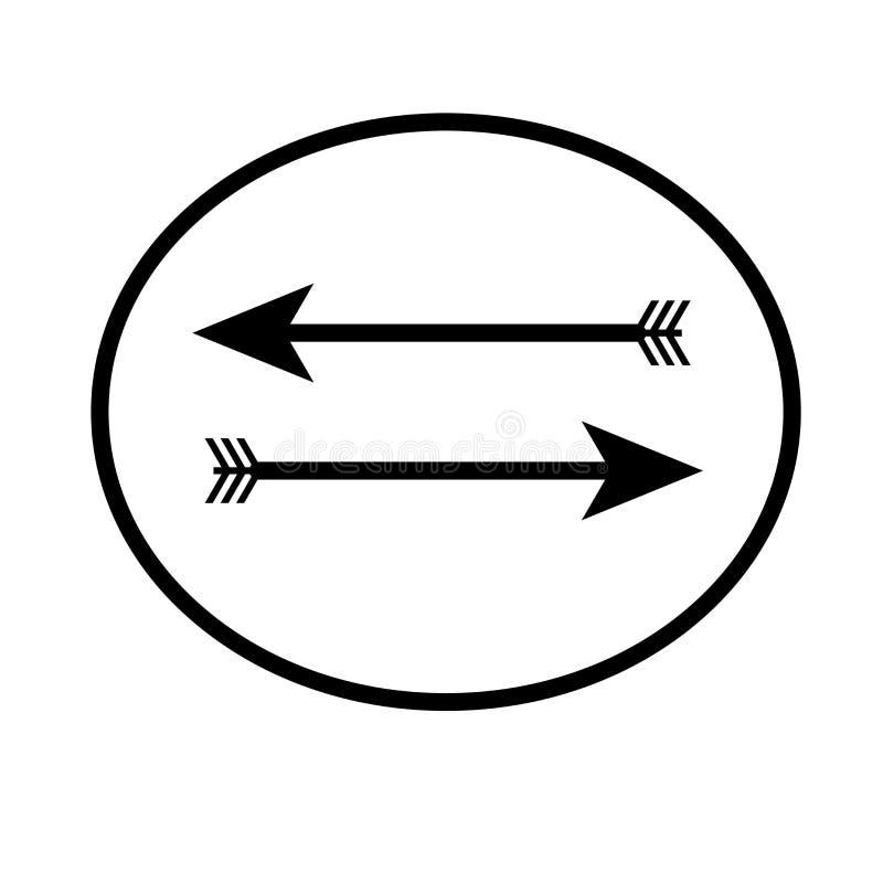 Segno di ritorno e simbolo di vettore dell'icona della freccia sinistra isolati su fondo bianco, concetto di ritorno di logo dell illustrazione vettoriale