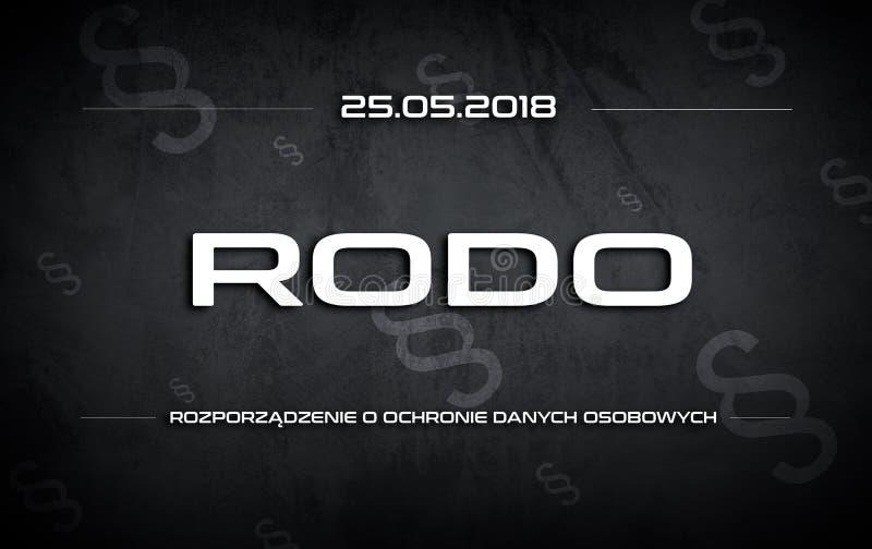 Segno di RODO royalty illustrazione gratis