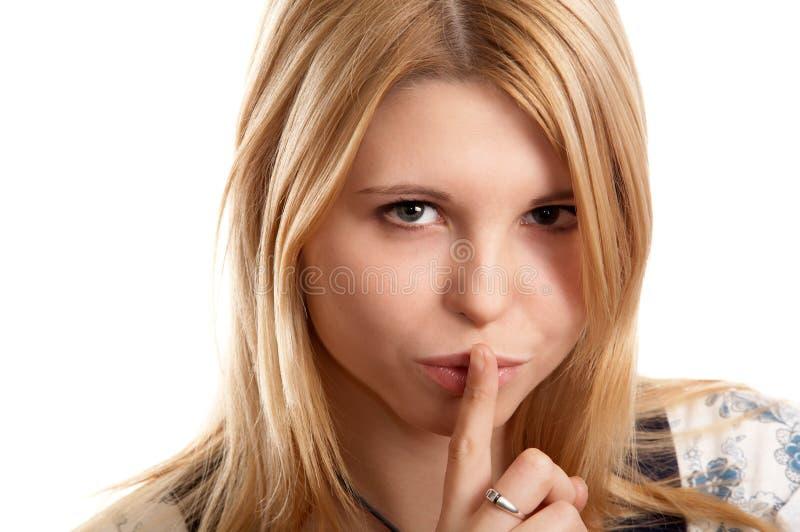 Segno di silenzio immagini stock libere da diritti
