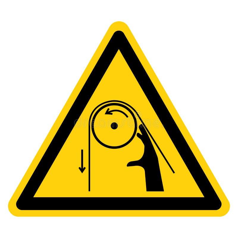 Segno di simbolo dei rulli dell'intrico della mano, illustrazione di vettore, isolato sull'etichetta bianca del fondo EPS10 illustrazione di stock