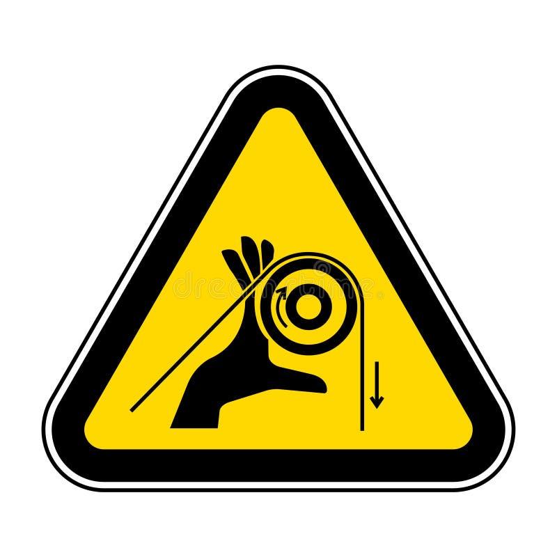 Segno di simbolo dei rulli dell'intrico della mano, illustrazione di vettore, isolato sull'etichetta bianca del fondo EPS10 immagini stock libere da diritti