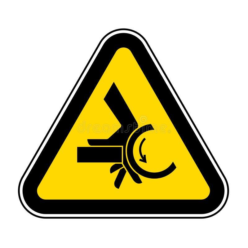 Segno di simbolo del punto a composizione costante del rullo di schiacciamento della mano, illustrazione di vettore, isolato sull illustrazione di stock