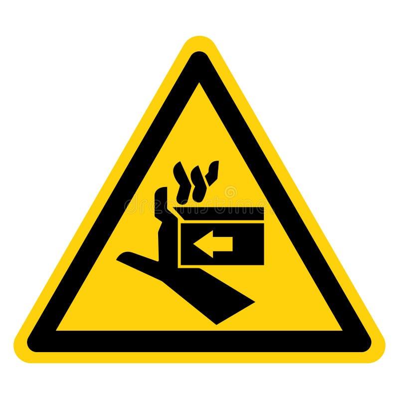Segno di simbolo di destra della forza di schiacciamento della mano, illustrazione di vettore, isolato sull'etichetta bianca del  illustrazione vettoriale