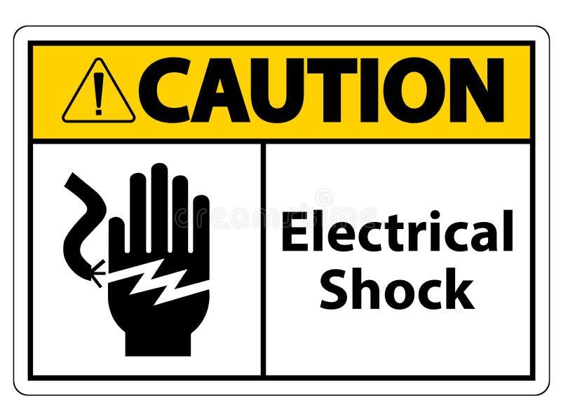Segno di simbolo di folgorazione di scossa elettrica, illustrazione di vettore, isolato sull'etichetta bianca del fondo EPS10 illustrazione vettoriale