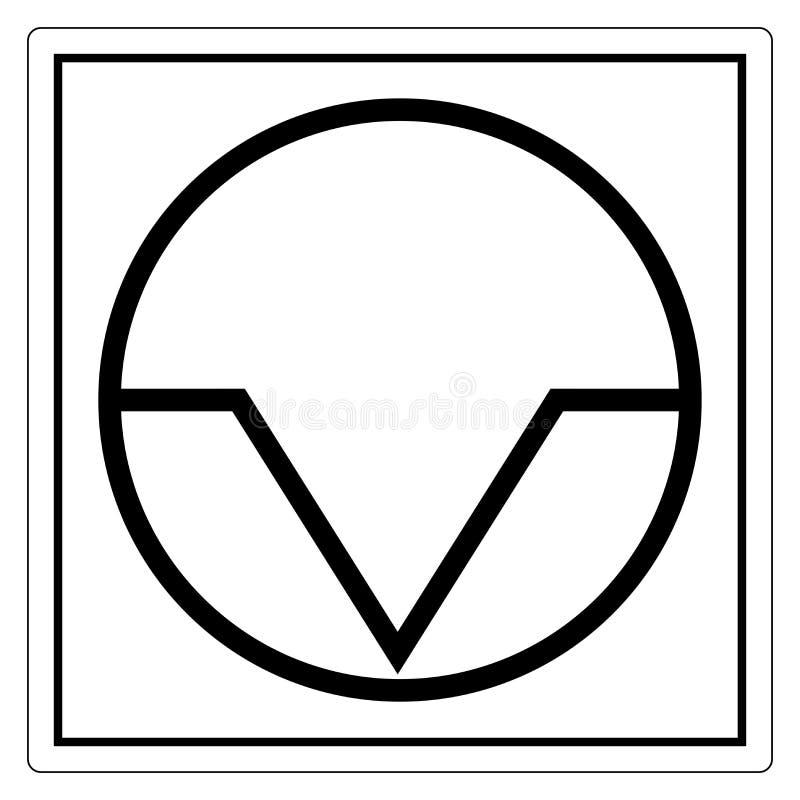 Segno di simbolo di interruzione di pausa, illustrazione di vettore, isolato sull'etichetta bianca del fondo EPS10 illustrazione vettoriale