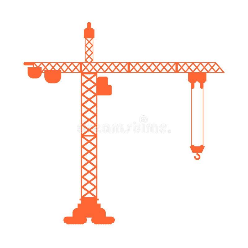 Segno di sollevamento dell'icona della gru Industriale della costruzione Illustrazione di vettore illustrazione vettoriale